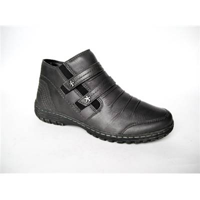 BOTTINE CUIR 21100-19 ANTHRACITE